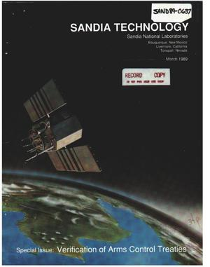 Primary view of object titled 'Sandia technology. Volume 13, number 2 Special issue : verification of arms control treaties.'.