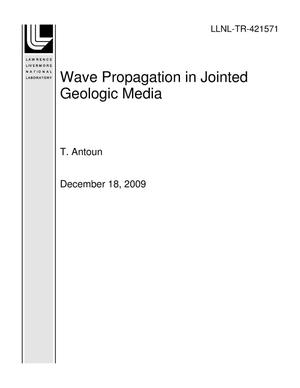 Primary view of object titled 'Wave Propagation in Jointed Geologic Media'.
