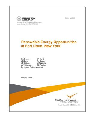 Primary view of object titled 'Renewable Energy Opportunities at Fort Drum, New York'.