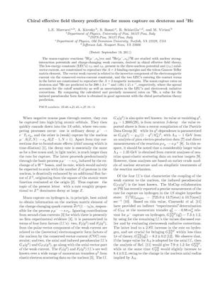 Primary view of object titled 'Chiral effective field theory predictions for muon capture on deuteron and $^3$He'.