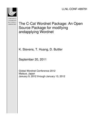 Primary view of object titled 'The C-Cat Wordnet Package: An Open Source Package for modifying andapplying Wordnet'.