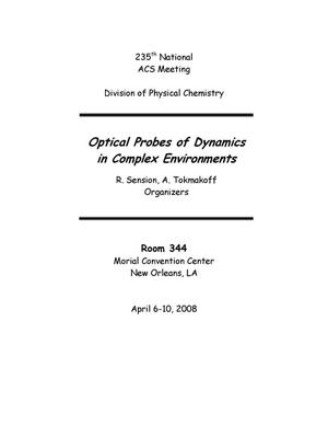 "Primary view of object titled 'Proceedings of ""Optical Probes of Dynamics in Complex Environments""'."