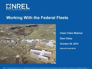 Primary view of object titled 'Working With the Federal Fleets (Presentation)'.