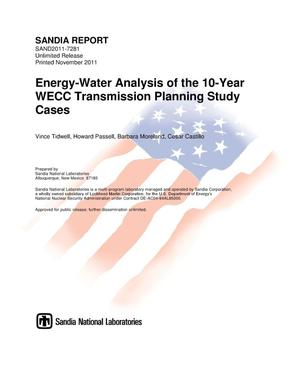 Primary view of object titled 'Energy-water analysis of the 10-year WECC transmission planning study cases.'.