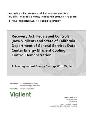 Primary view of object titled 'Recovery Act: Federspiel Controls (now Vigilent) and State of California Department of General Services Data Center Energy Efficient Cooling Control Demonstration'.