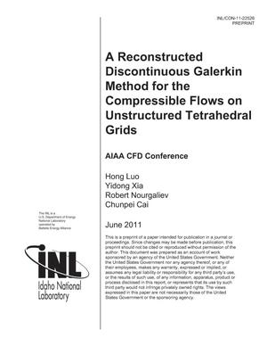 Primary view of object titled 'A Reconstructed Discontinuous Galerkin Method for the Compressible Flows on Unstructured Tetrahedral Grids'.