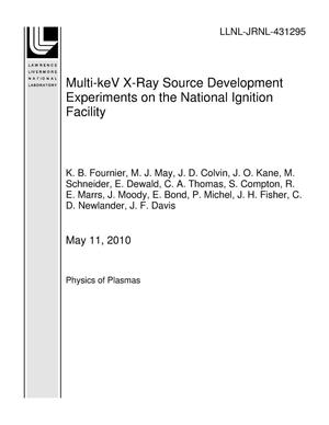 Primary view of object titled 'Multi-keV X-Ray Source Development Experiments on the National Ignition Facility'.