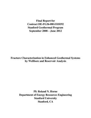 Primary view of object titled 'Fracture Characterization in Enhanced Geothermal Systems by Wellbore and Reservoir Analysis'.