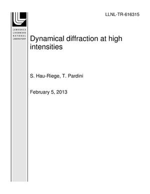 Primary view of object titled 'Dynamical diffraction at high intensities'.