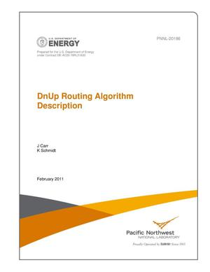 Primary view of object titled 'DnUp Routing Algorithm Description'.