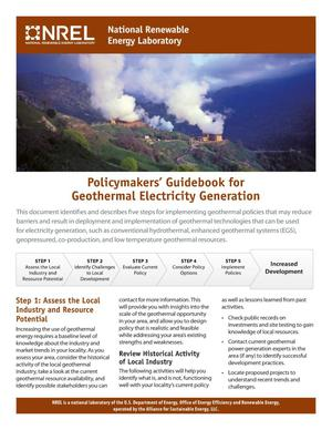 Primary view of object titled 'Policymakers' Guidebook for Geothermal Electricity Generation (Brochure)'.