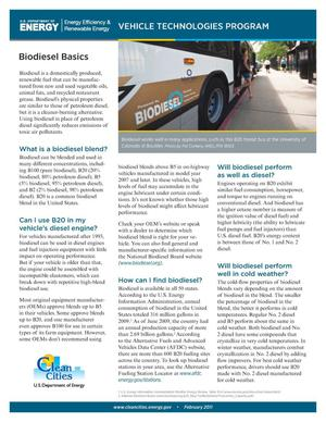 Primary view of object titled 'Biodiesel Basics (Fact Sheet)'.