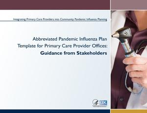 Primary view of object titled 'Abbreviated Pandemic Influenza Planning Template for Primary Care Offices'.