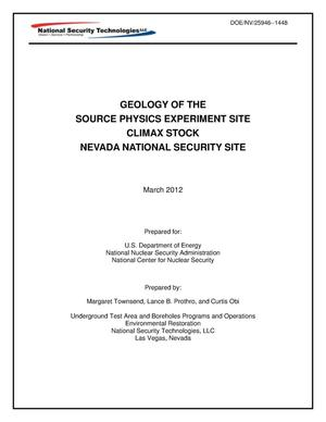 Primary view of object titled 'Geology of the Source Physics Experiment Site, Climax Stock, Nevada National Security Site'.