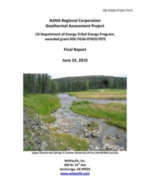 Primary view of object titled 'NANA Geothermal Assessment Program Final Report'.