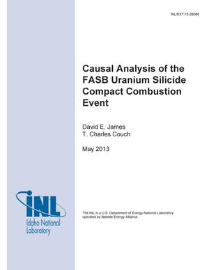Primary view of object titled 'Causal Analysis of the FASB Uranium Silicide Compa'.