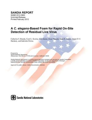 Primary view of object titled 'A C. elegans-based foam for rapid on-site detection of residual live virus.'.