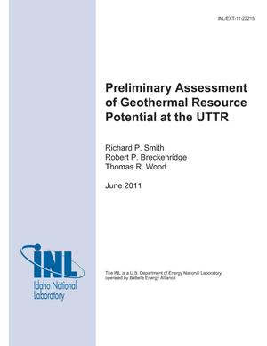 Primary view of object titled 'Preliminary Assessment of Geothermal Resource Potential at the UTTR'.