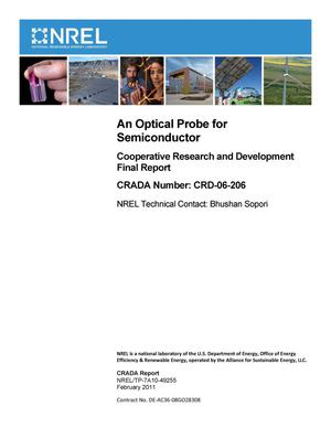 Primary view of object titled 'Optical Probe for Semiconductor: Cooperative Research and Development Final Report, CRADA Number CRD-06-206'.