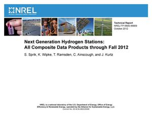 Primary view of object titled 'Next Generation Hydrogen Stations: All Composite Data Products through Fall 2012'.