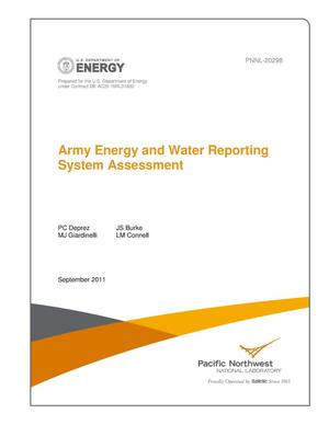 Primary view of object titled 'Army Energy and Water Reporting System Assessment'.