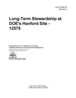 Primary view of object titled 'LONG-TERM STEWARDSHIP AT DOE HANFORD SITE - 12575'.