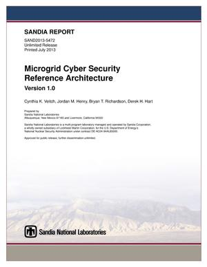 Primary view of object titled 'Microgrid cyber security reference architecture.'.