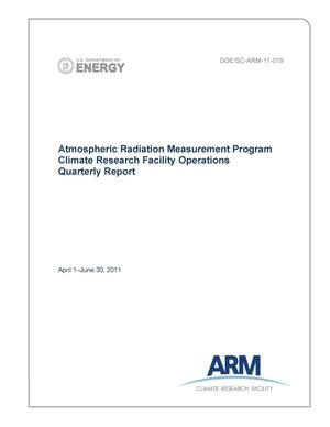Primary view of object titled 'Atmospheric Radiation Measurement Program Climate Research Facility Operations Quarterly Report April 1–June 30, 2011'.