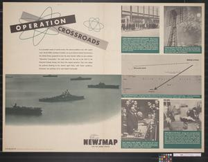 Primary view of object titled 'Newsmap for the Armed Forces : Operation Crossroads'.