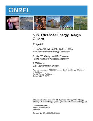 Primary view of object titled '50% Advanced Energy Design Guides: Preprint'.