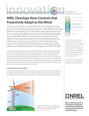 Primary view of object titled 'NREL Develops New Controls that Proactively Adapt to the Wind (Fact Sheet)'.