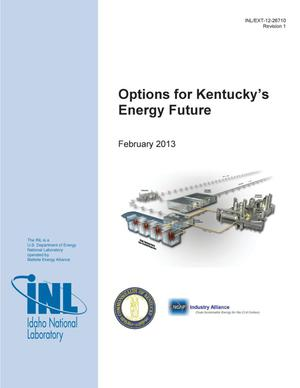 Primary view of object titled 'Options for Kentucky's Energy Future'.