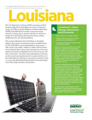 Primary view of object titled 'Louisiana: Louisiana's Clean Energy Resources and Economy (Brochure)'.