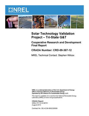 Primary view of object titled 'Solar Technology Validation Project - Tri-State G&T: Cooperative Research and Development Final Report, CRADA Number CRD-09-367-12'.