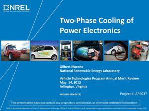 Primary view of object titled 'Two-Phase Cooling of Power Electronics (Presentation)'.