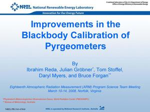 Primary view of object titled 'Improvements in the Blackbody Calibration of Pyrgeometers (Presentation)'.