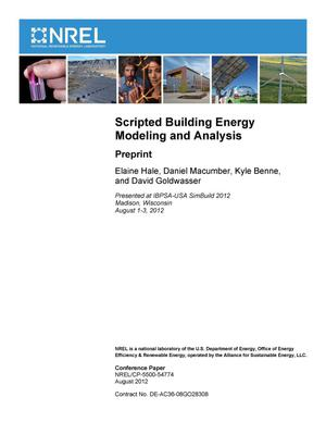 Primary view of object titled 'Scripted Building Energy Modeling and Analysis: Preprint'.
