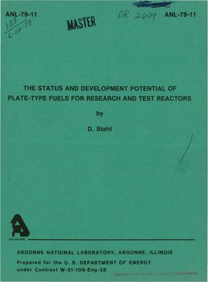 Primary view of object titled 'The Status and Development Potential of Plate-Type Fuels for Research and Test Reactors'.