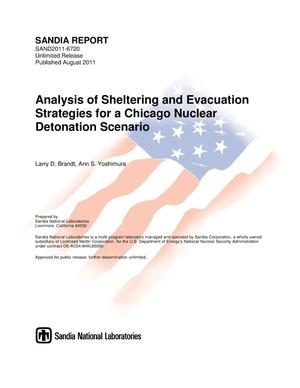 Primary view of object titled 'Analysis of sheltering and evacuation strategies for a Chicago nuclear detonation scenario.'.