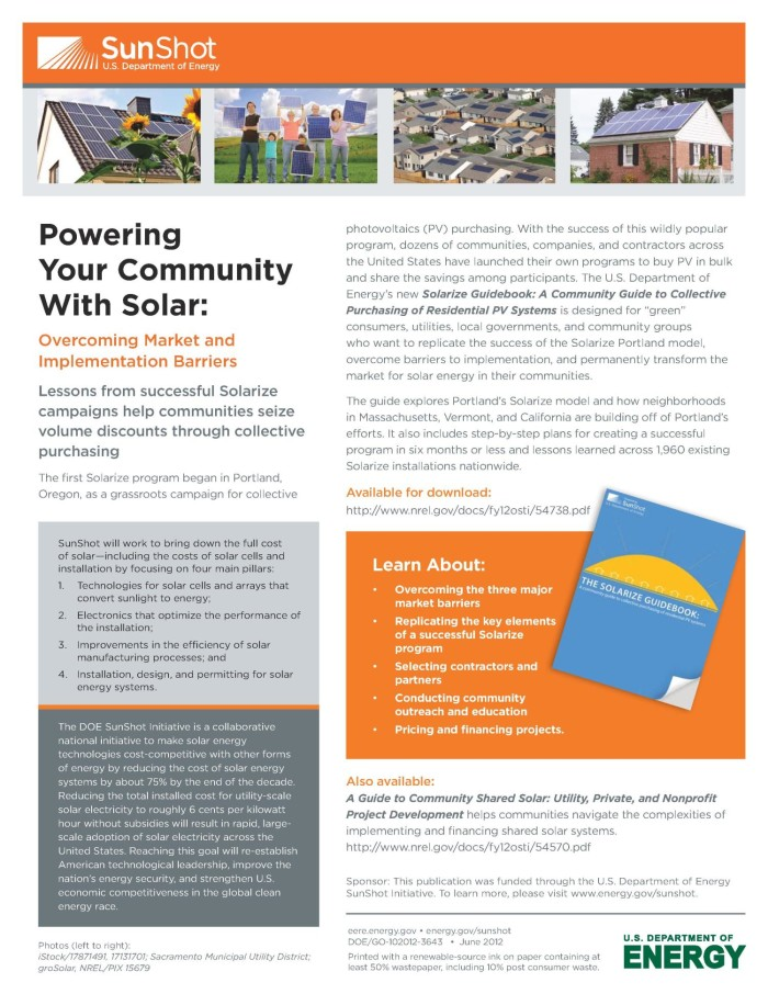 Powering Your Community With Solar: Overcoming Market and