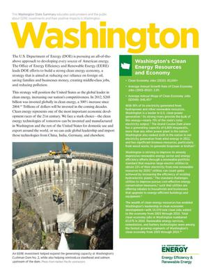 Primary view of object titled 'Washington: Washington's Clean Energy Resources and Economy (Brochure)'.