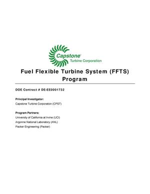 Primary view of object titled 'Fuel Flexible Turbine System (FFTS) Program'.