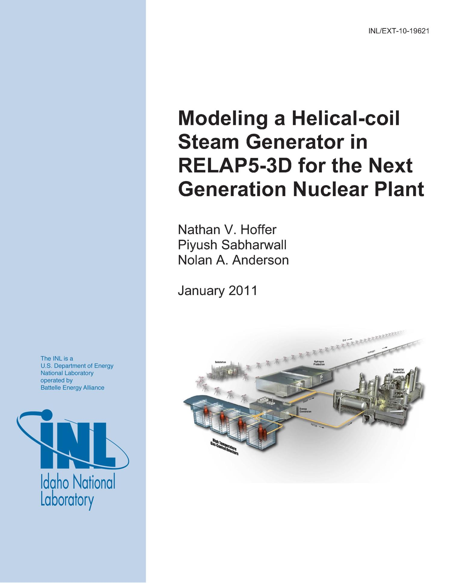 Modeling a Helical coil Steam Generator in RELAP5 3D for the Next