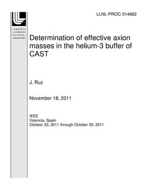 Primary view of object titled 'Determination of effective axion masses in the helium-3 buffer of CAST'.