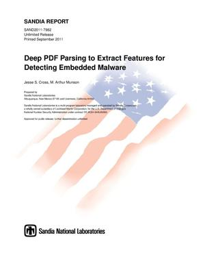 Primary view of object titled 'Deep PDF parsing to extract features for detecting embedded malware.'.