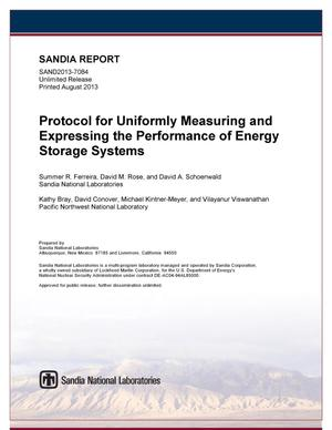 Primary view of object titled 'Protocol for uniformly measuring and expressing the performance of energy storage systems.'.