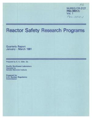 Primary view of object titled 'Reactor Safety Research Programs'.