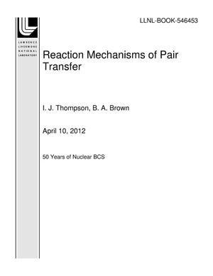 Primary view of object titled 'Reaction Mechanisms of Pair Transfer'.