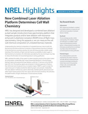 Primary view of object titled 'New Combined Laser Ablation Platform Determines Cell Wall Chemistry (Fact Sheet)'.