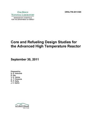 Primary view of object titled 'Core and Refueling Design Studies for the Advanced High Temperature Reactor'.